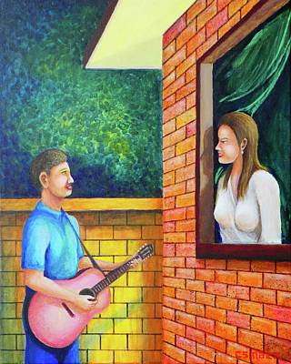 Painting - Harana by Cyril Maza