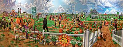 Harbe's Family Farm Art Print by Bonnie Siracusa