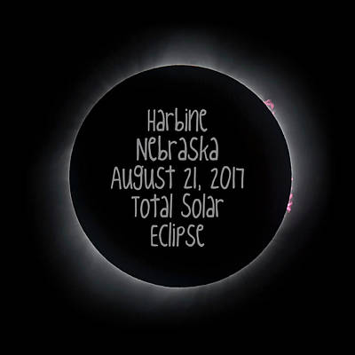 Harbine Nebraska Total Solar Eclipse August 21 2017 Art Print