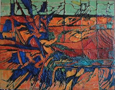 Art Print featuring the painting Harbingers by Bernard Goodman