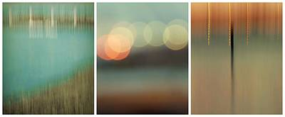 Photograph - Harbor Abstracts Triptych by Patricia Strand
