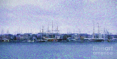 Painting - Harbor Anchorage by Steven Parker