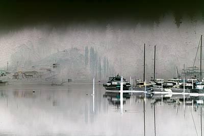 Harbor And Boats Art Print