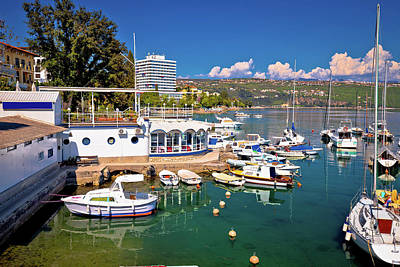 Photograph - Harbor And Waterfront Of Opatija View by Brch Photography