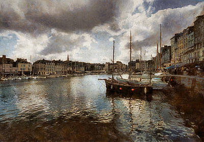 Photograph - Harbor At Honfleur by Joe Bonita