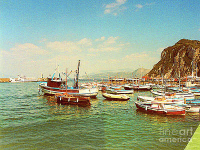 Photograph - Harbor At Isle Of Capri, Italy by Merton Allen