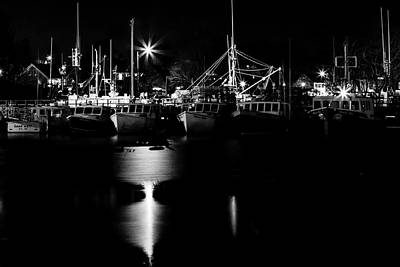 Photograph - Harbor At Night by Natalie Rotman Cote