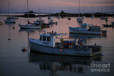 Lobstermen Photograph - Harbor At Sunset by Timothy Johnson