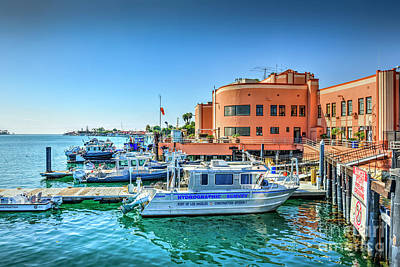 Photograph - Fire Dept Research Boats Pedro Ca by David Zanzinger