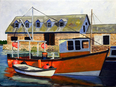 Painting - Harbor Boat by Steven Scott
