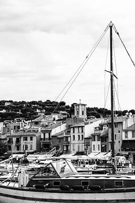 Harbor Boats In The South Of France Art Print by Georgia Fowler