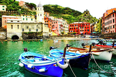 Photograph - Harbor Boats Vernazza by Scott Kemper