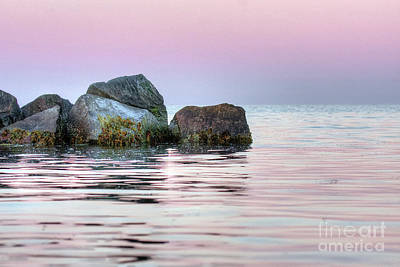 Photograph - Harbor Breakwater by Tom Cameron