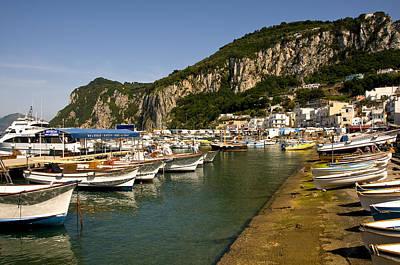 Harbor Capri Italy Art Print by Xavier Cardell