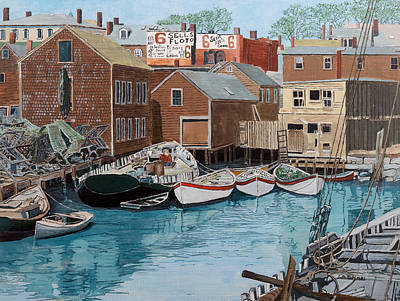 Painting - Harbor Cove by Laurence Dahlmer