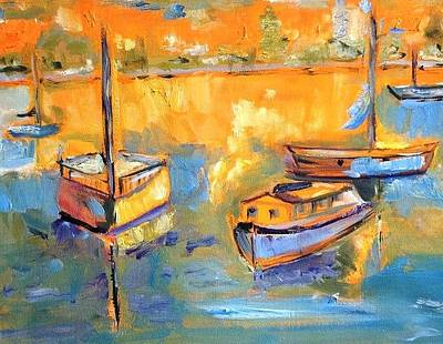 The Complex Painting - Harbor Day by Constance Paul