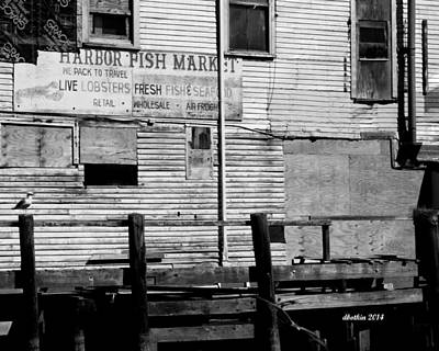 Photograph - Harbor Fish Market by Dick Botkin