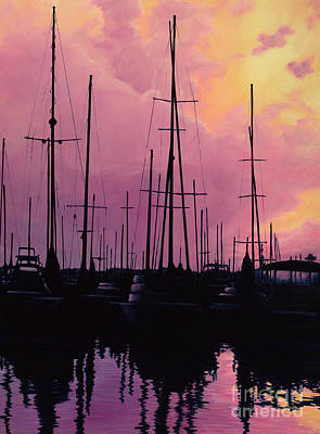 Painting - Harbor Glow by Elisabeth Sullivan