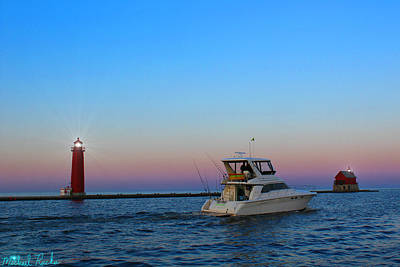 Photograph - Harbor Holland Light by Michael Rucker