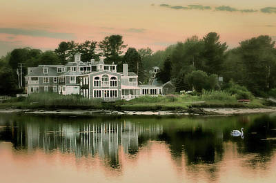 Photograph - Maine's Harbor Home by Diana Angstadt