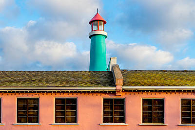 Photograph - Harbor House Light by Derek Dean