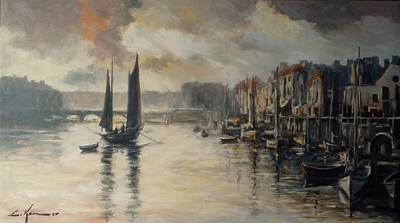 Painting - Harbor Impression by Luke Karcz