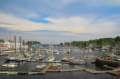 Photograph - Harbor In Camden Maine by Joni Eskridge