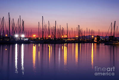 Photograph - Harbor In The Evening by Anna Om