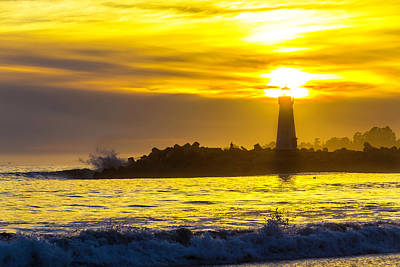 Photograph - Harbor Lighthouse by Garry Gay