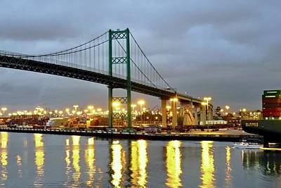 Photograph - Harbor Lights In San Pedro by Kirsten Giving