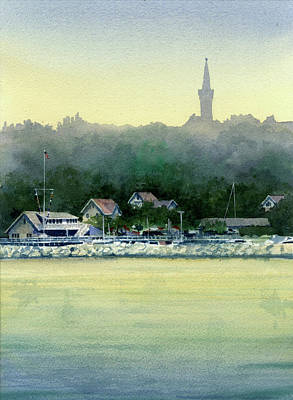 Painting - Harbor Master, Port Washington by James Faecke