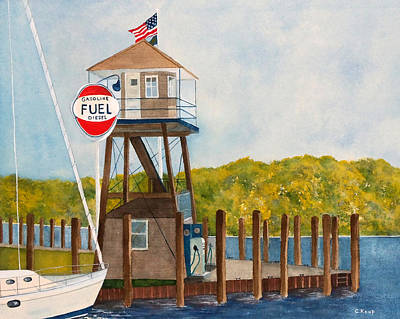 Painting - Harbor Master's Tower by Carolyn Koup