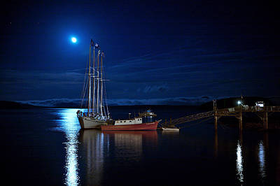Photograph - Harbor Moon by Lawrence Boothby
