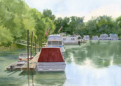 Painting - Harbor Morning by Phyllis Martino
