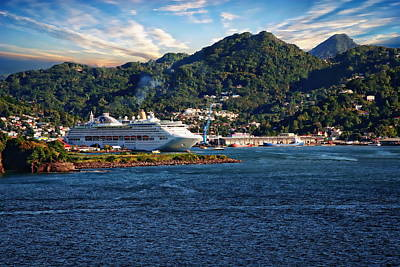 Photograph - Harbor Of Castries, St. Lucia by Anthony Dezenzio
