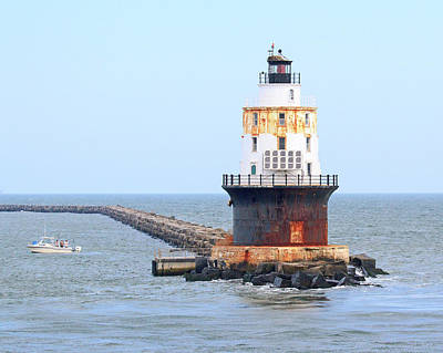 Photograph - Harbor Of Refuge Lighthouse  by Allan Levin