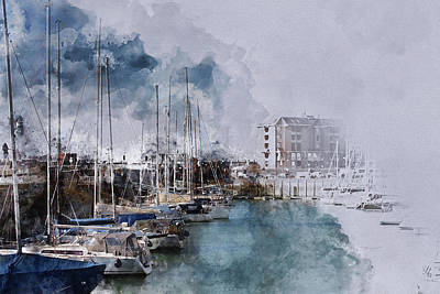 Nederland Mixed Media - Harbor Of Vlissingen - Holland by Art By Jeronimo