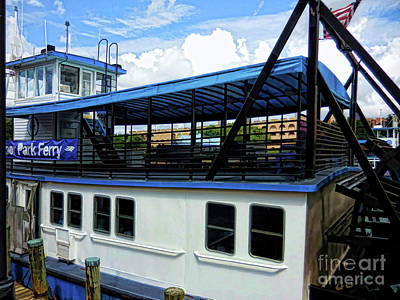 Tourism Painting - Harbor Park Ferry 1 by Lanjee Chee
