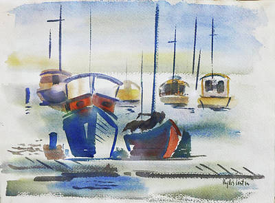 Painting - Harbor by Phyllis Hanson Lester