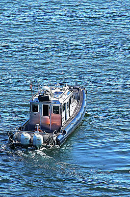 Inflatable Boats Photograph - Harbor Police Patrol Boat by Richard Henne