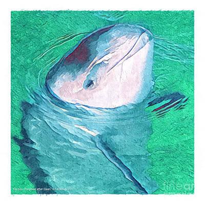 Digital Art - Harbor Porpoise by Art MacKay