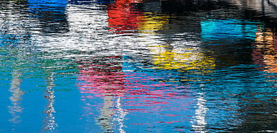 Ripples Photograph - Harbor Reflections I - Abstract Photograph by Duane Miller