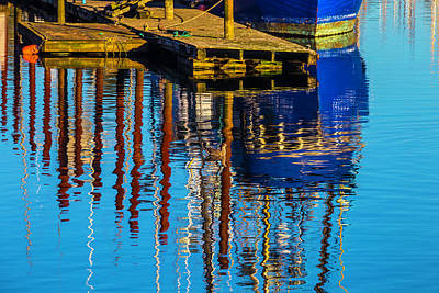Seagull Photograph - Harbor Reflections by Garry Gay