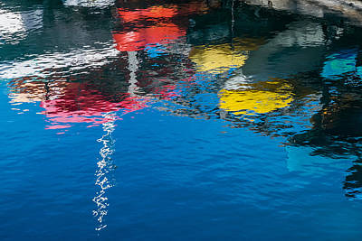 States Painting - Harbor Reflections II - Abstract Photograph by Duane Miller
