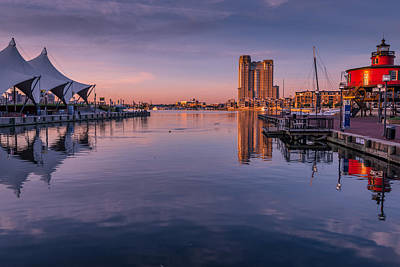 Harbor Reflections Art Print by Jim Archer