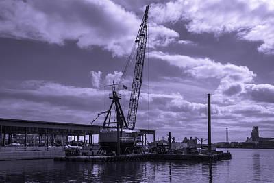 Fells Point Baltimore Photograph - Harbor Repair by Jim Archer