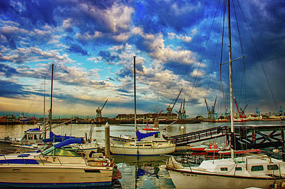 Photograph - Harbor Scene by Joseph Hollingsworth