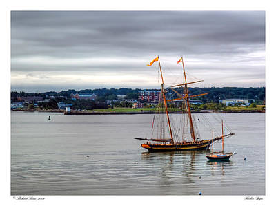 Art Print featuring the photograph Harbor Ships by Richard Bean