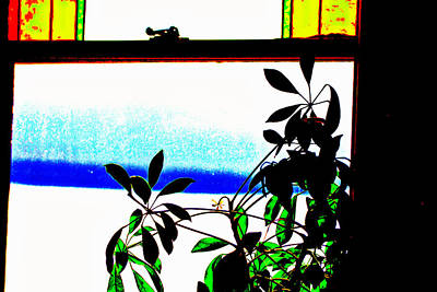 Harbor Side Window Art Print