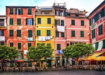 Photograph - Harbor Square In Vernazza by Carolyn Derstine